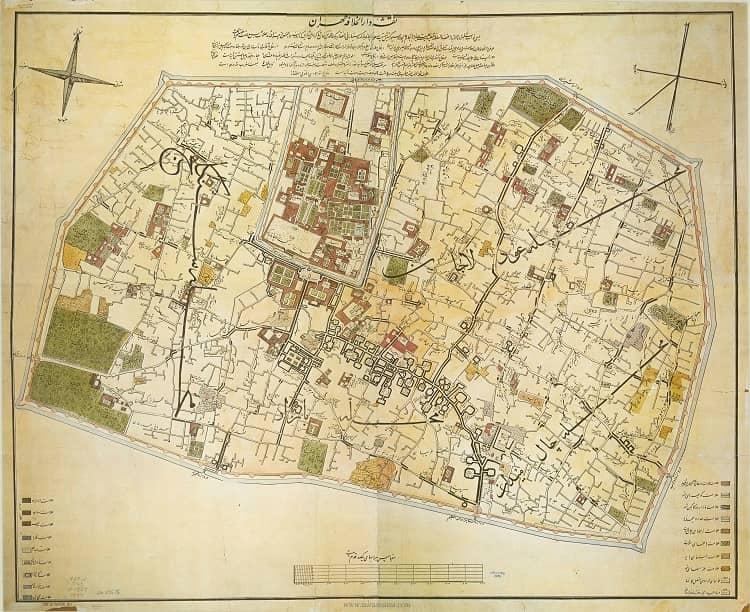 نقشه های تاریخی تهران؛ نقشه کرشیش