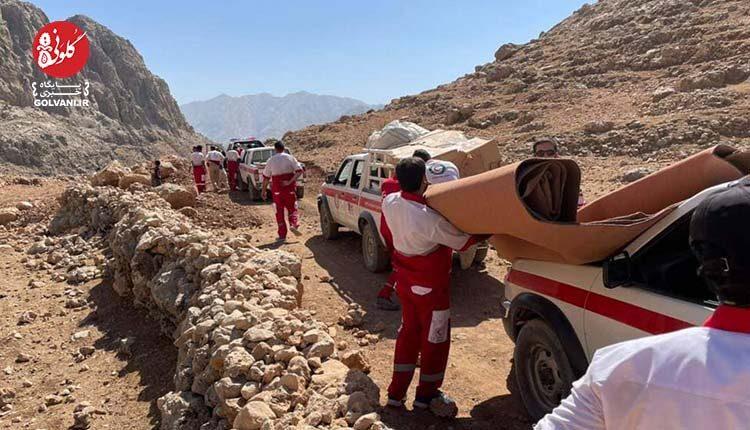 تصاویری از حضور هلال احمر در منطقه زلزله زده اندیکا